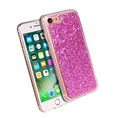 luxury bling glitter phone for apple iphone soft silicone rubber gel cover