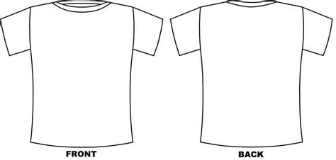 t shirt front and back coloring pages
