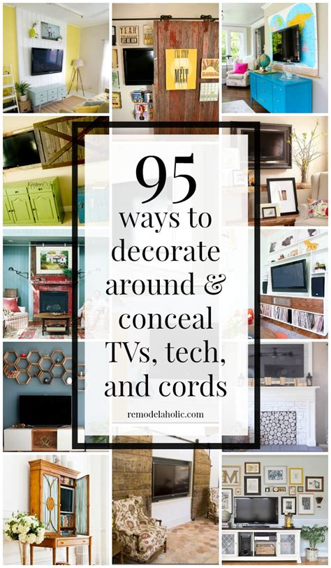 How To Decorate Around A by Remodelaholic 95 Ways To Hide Or Decorate Around The Tv
