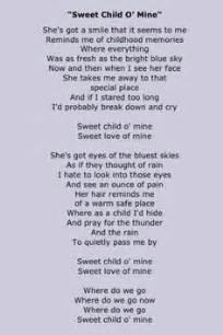 sweet child of mine testo 1000 images about song lyrics on lynyrd