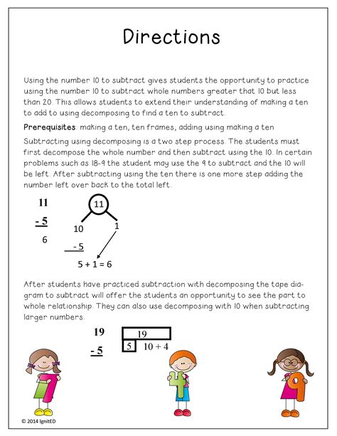 diagram math subtraction number bond and diagram subtraction ignited