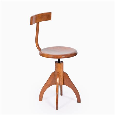 Wooden Stool With Backrest by Revolving Wooden Stool With Backrest Nanovo