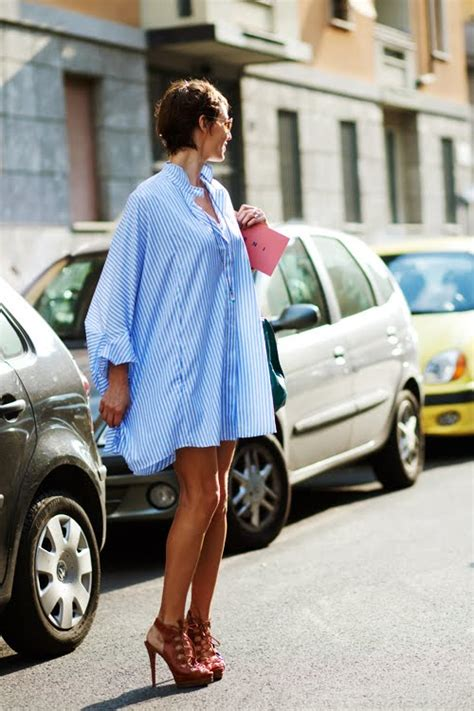 big shirt on the big shirt dress milan 171 the sartorialist