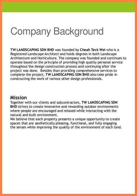 Resume Sample Engineering by 8 Engineering Company Profile Sample Company Letterhead