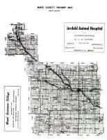 ward county map ward county 1956 dakota historical atlas