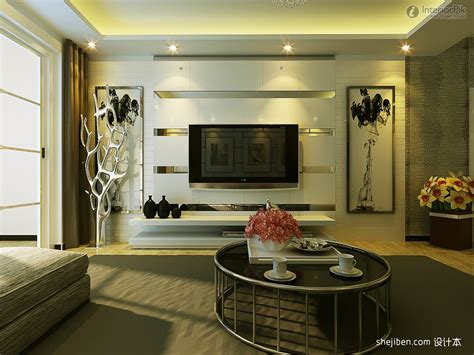 modern living room tv background wall decoration effect