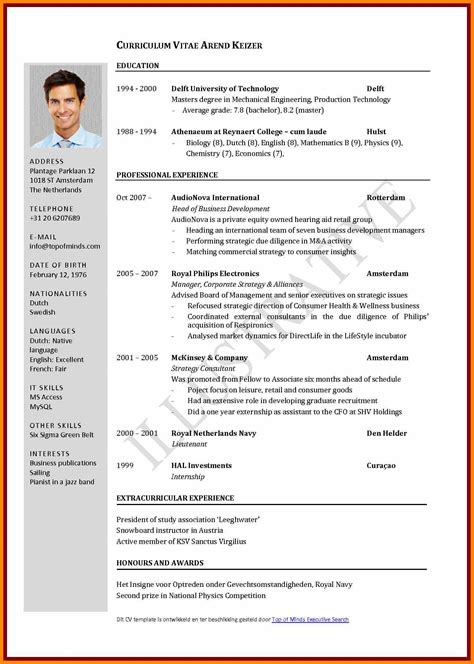 format of resume pdf 10 student cv format pdf new tech timeline