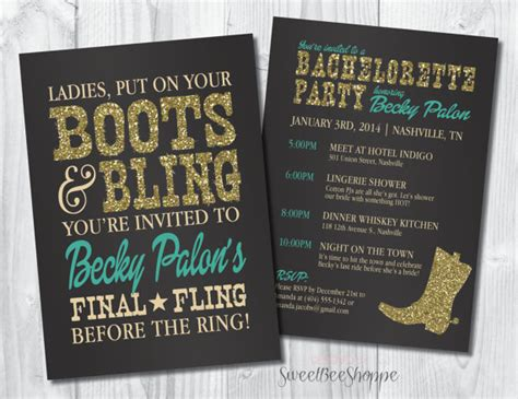 bling invitations 10 000 bling invites announcements country western bachelorette invitation boots bling bachelorette invite saloon