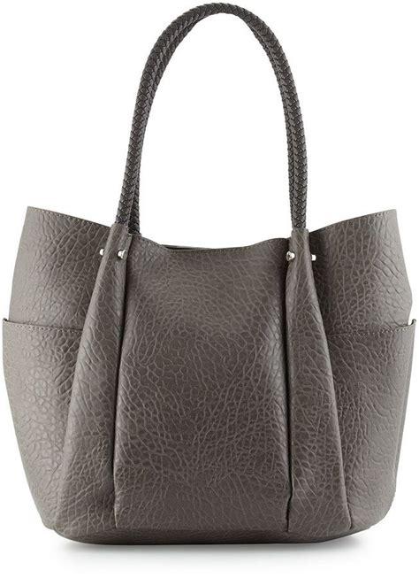 Handbags Lv Emboss neiman embossed woven handle tote bag gray