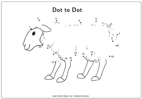 counting sheep coloring page sheep dot to dot