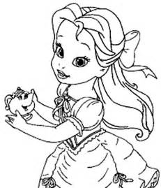 young belle holding potts coloring pages coloring sun