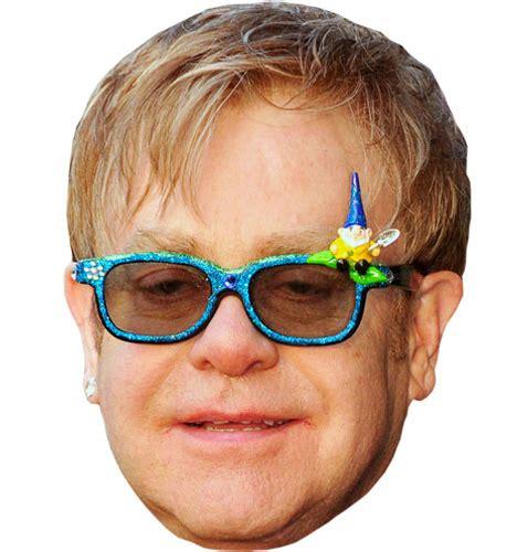 elton john vip elton john vip celebrity cardboard cutout face mask