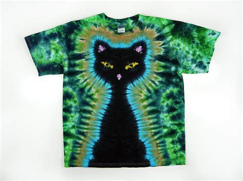 design t shirt tie dye tie dye t shirt adult and plus sizes black cat green