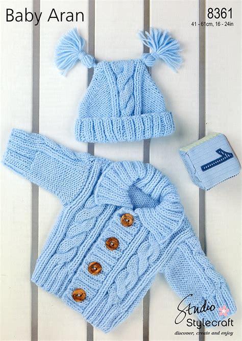 stylecraft knitting patterns to cardigan hat in stylecraft baby aran 8361 hat