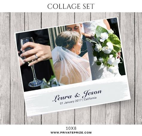 wedding collage template 34 best wedding collages set just married photoshop