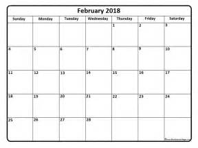 Calendar 2018 Printable Yearly February 2018 Calendar Template Calendar Printable Free