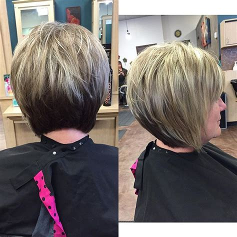 stacked shortbhair for over 50 21 gorgeous stacked bob hairstyles bobs for women and shy m