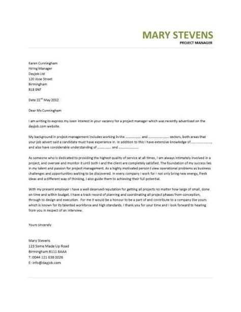 project manager cover letter sle best 25 project manager cover letter ideas on
