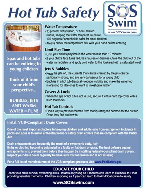 bathtub drowning statistics sos swim school hot tub safety sos swim school