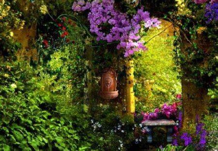 secret garden  nature background wallpapers