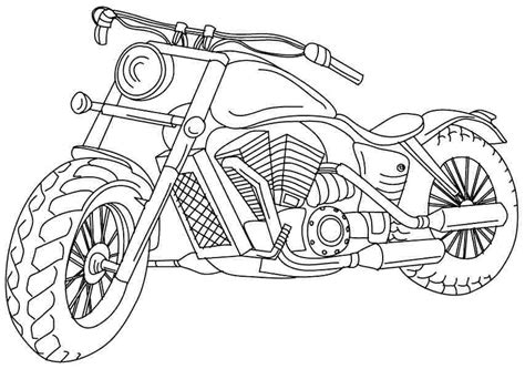 printable motorcycle coloring pages coloring home