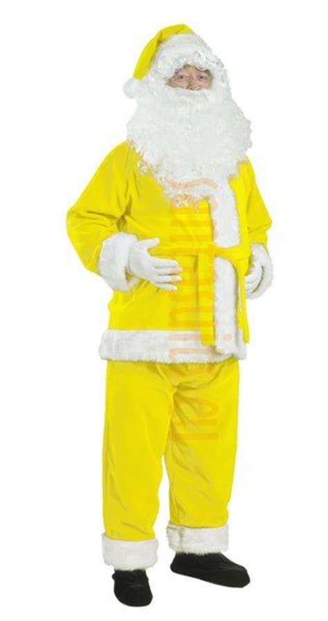 santa jacket and hat yellow santa suit jacket trousers and hat santa suits