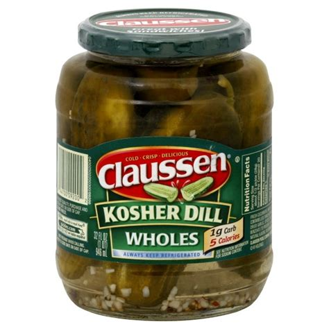 kosher pickles claussen pickles kosher dill whole refrigerated