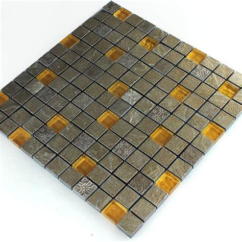 orange fliesen naturstein glas mosaik fliese grau orange lz69176m