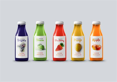 Juicer 7 In One juice bottle mockup graphicsfuel