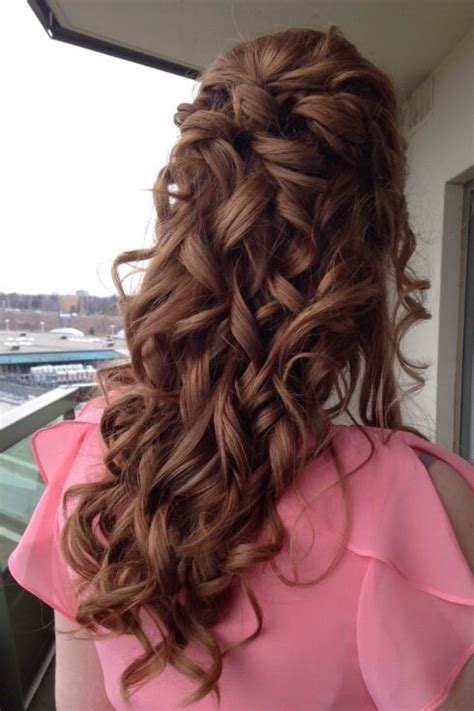 half up hairstyle pretty curls bridal shower hair wedding hair by soma hair design this is