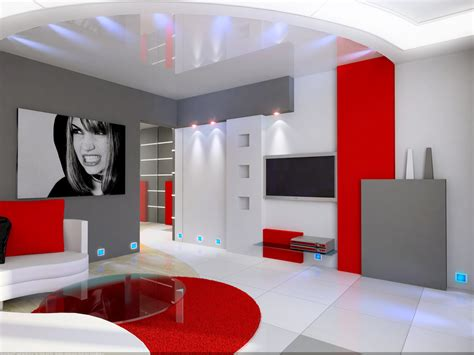 Impressionnant Idee Deco De Chambre #1: photo-deco-idee-deco-salon-gris-et-rouge-photo.jpg