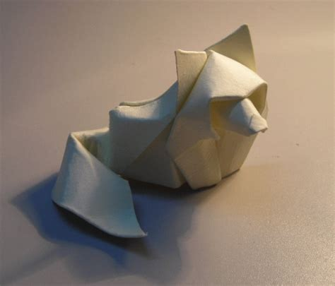 Wolf Origami - origami works by hoand tien quyet