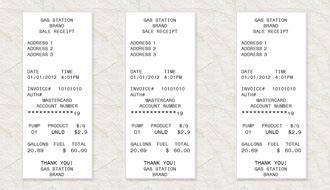 fuel receipt template gas receipt