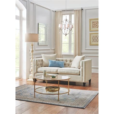 home decorations catalog home decorators collection lakewood beige linen sofa 1310710870 the home depot