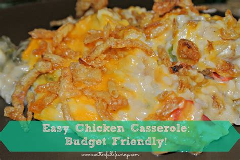 eyc chicken casserole recipe quick to make easy on the