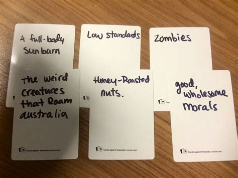 make your own cards against humanity ideas cards against humanity blank cards on each table for