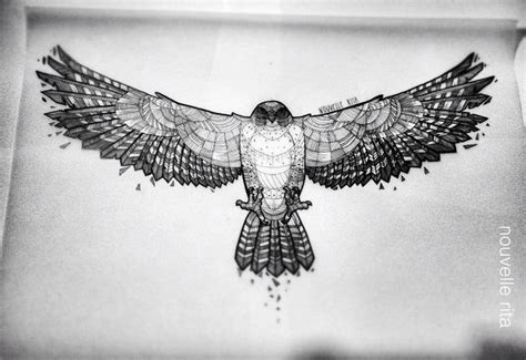 Geometric Tattoo Hawk | hawk artist nouvelle rita ღtrish w http www