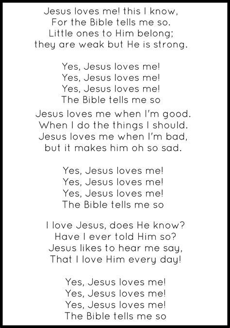 printable lyrics jesus loves me letter j jesus enchantedyankee