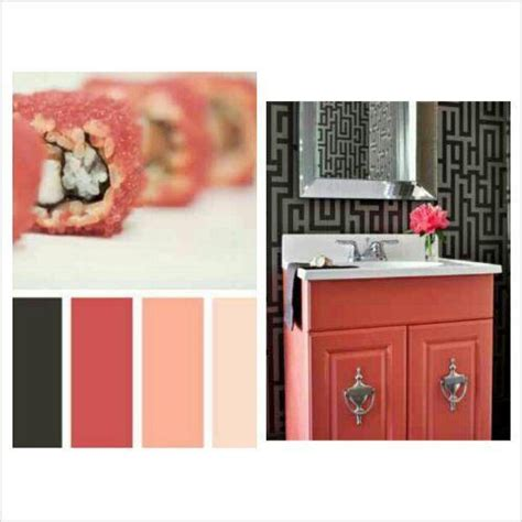 gray and coral bathroom coral peach black and gray bathroom awesome paint
