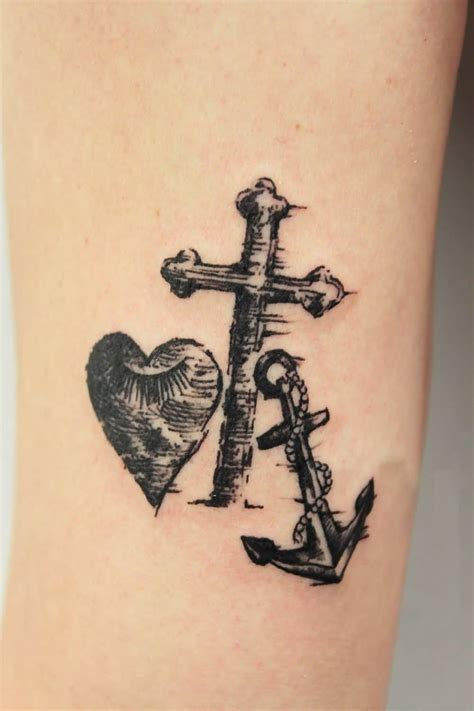 cross tattoo with heart 26 faith designs ideas and symbols