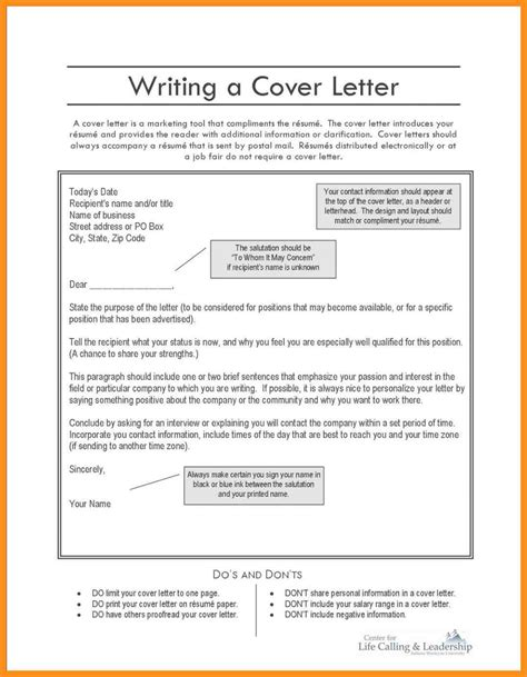 What To Write On A Cv Cover Letter by 9 What To Write On A Cover Letter For A Resume Agenda Exle