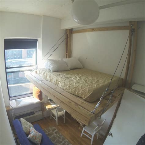 diy hanging bed hanging bed loft bed suspended bed floating bed