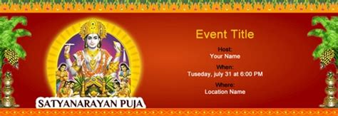 puja invitation card template free invitations for indian and events