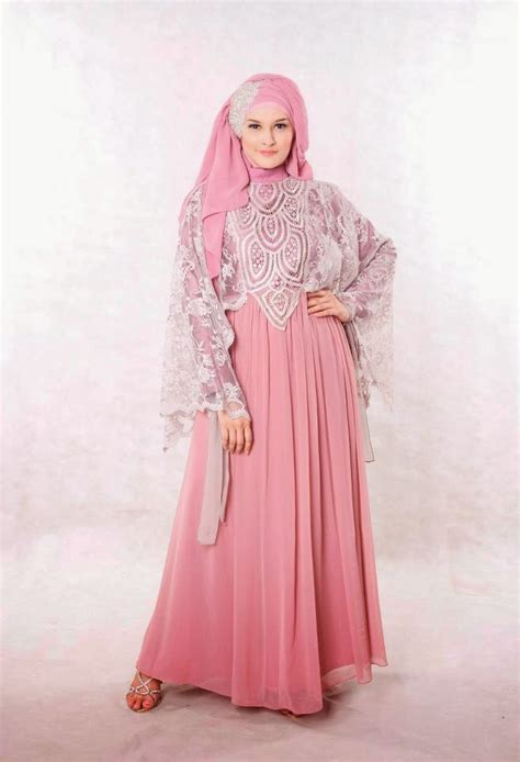 Contoh Baju Muslim 20 Contoh Model Baju Muslim Untuk Pesta Terbaik 2015