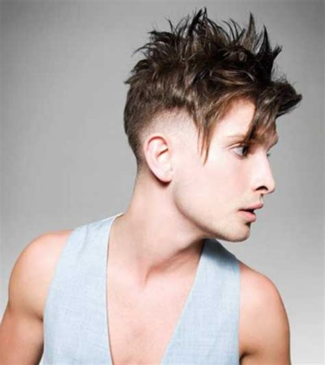 hairstyles for men short top spiky and longer back mens hair short sides long top mens hairstyles 2018