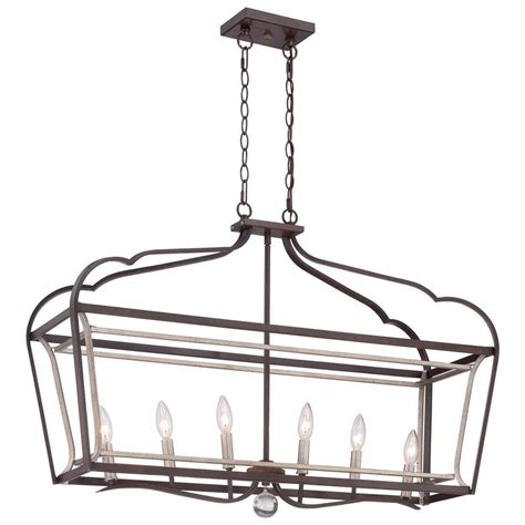 Minka Lavery Island Lighting Minka Lavery Astrapia 6 Light Rubbed With Aged Silver Island Light 4346 593 The