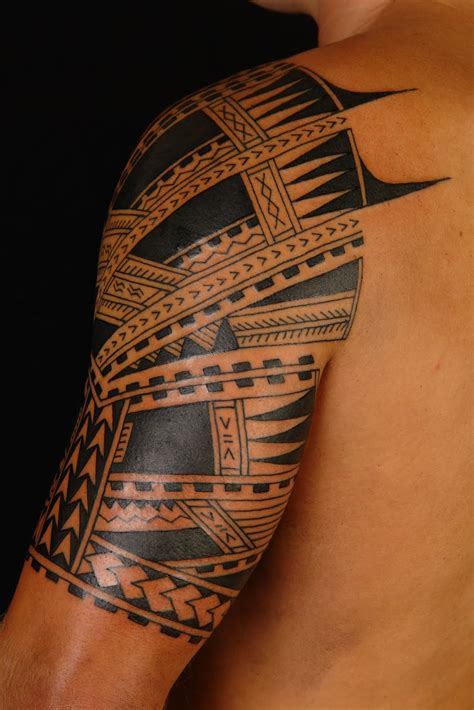 polynesian tattoo for men maori polynesian polynesian half sleeve