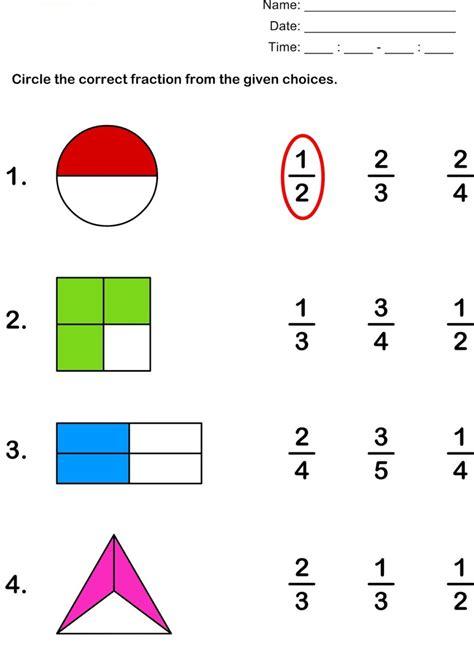 fractions worksheets part 1 worksheet mogenk paper works