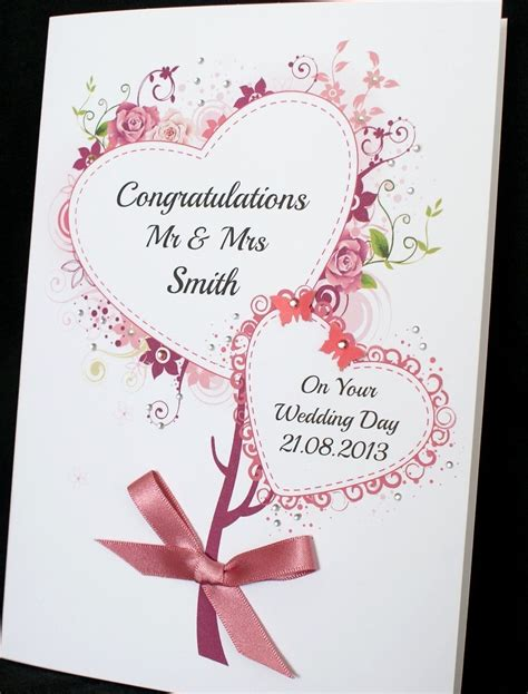 Handmade Wedding Cards Uk - large handmade personalised bouquet of hearts