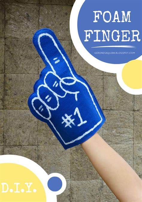 foam finger template gerone diy foam finger